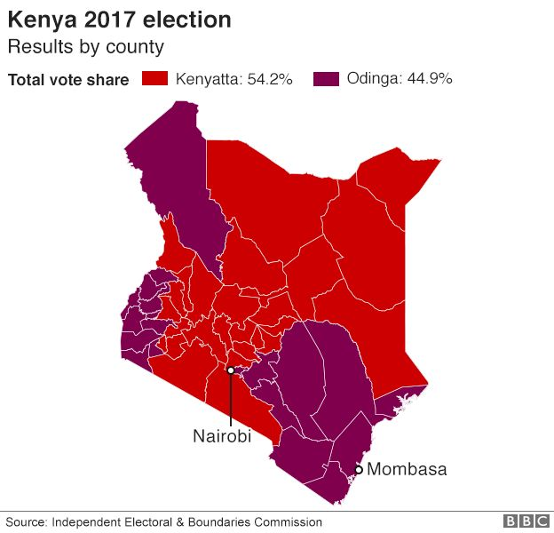 Kenya election: Raila Odinga to challenge result in court - BBC News