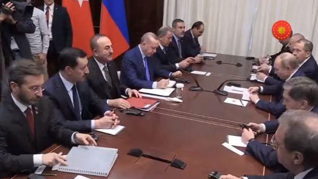 Erdoğan ve Putin görüşmesi