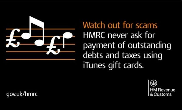 HMRC warning on gift cards