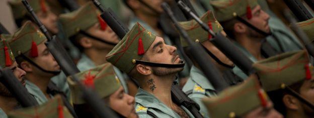 Spanish legionnaires (file pic)