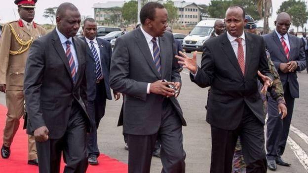 Ducaale, Uhuru iyo Ruto