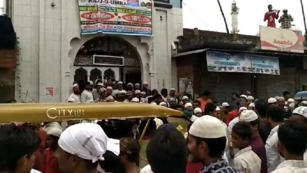 উন্নাওতে মুসলিমদের বিক্ষোভ সমাবেশ
