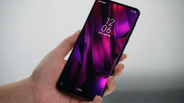 A Xiaomi Mi Mix 3 smartphone