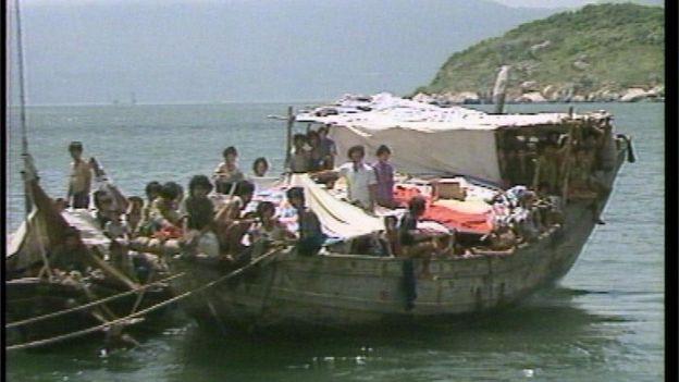 На подобных лодках из Вьетнама бежали два миллиона человек