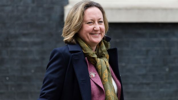Secretary of State for International Development Anne-Marie Trevelyan leaves 10 Downing Street in central London on 14 February, 2020 in London, England.