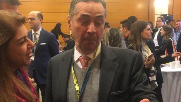 O ministro Luís Roberto Barroso em Harvard