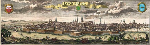 Antiguo mapa de Königsberg
