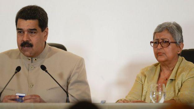Nicolás Maduro y Tibisay Lucena