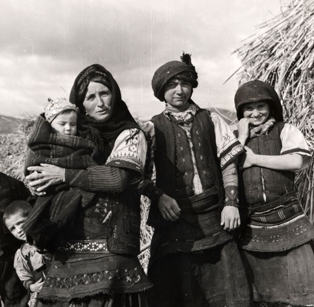 Macedonian peasants in Greece in 1947
