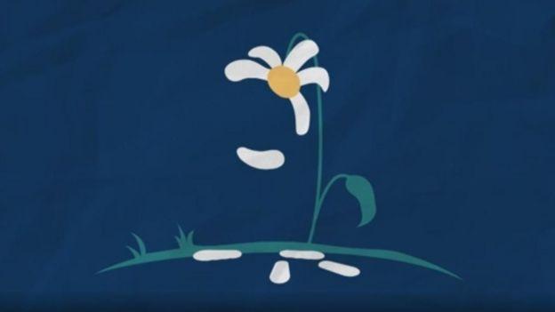 MArgarida perdendo pétulas. Ilustração da solidão, por Rabia Ali.