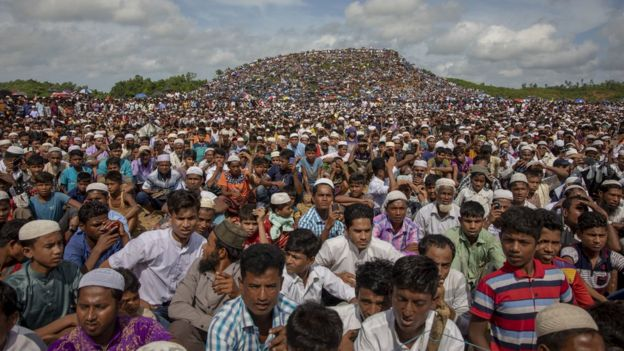 Беженцы-рохинджа в лагере Кутапалонг в Бангладеш (25 августа 2019 года)