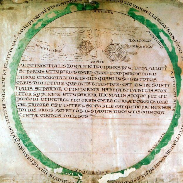 Mapa del mundo del siglo X