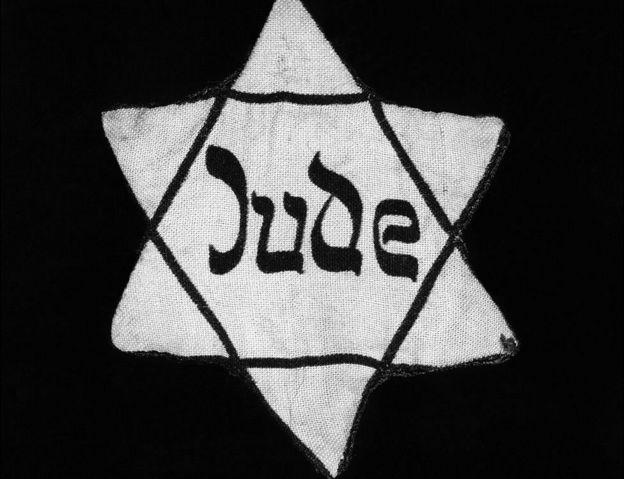 Estrela de David com a qual os nazistas marcavam os judeus