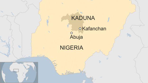 Map of Nigeria.
