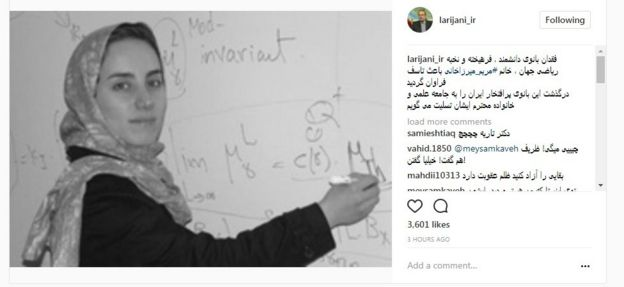 Speaker Ali Larijani who said on his Instagram page: