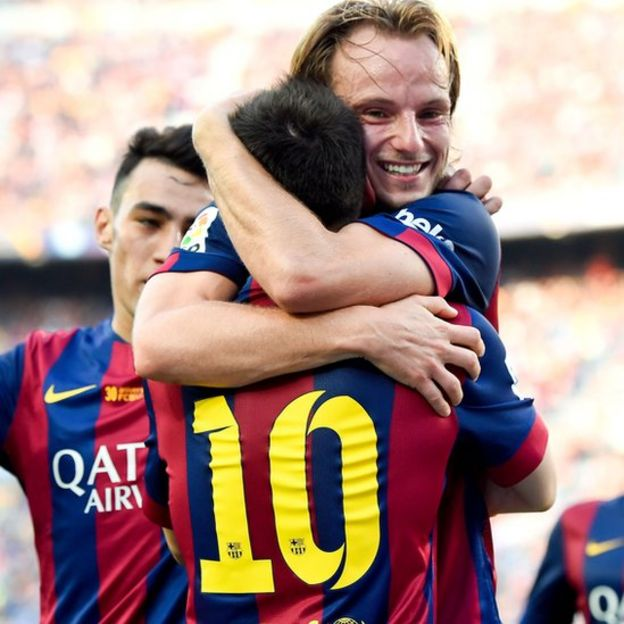 Rakitic y Messi