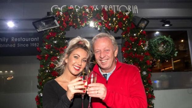 Gordon and Daniela Scott who own Gordon's Trattoria on Edinburgh's Royal Mile