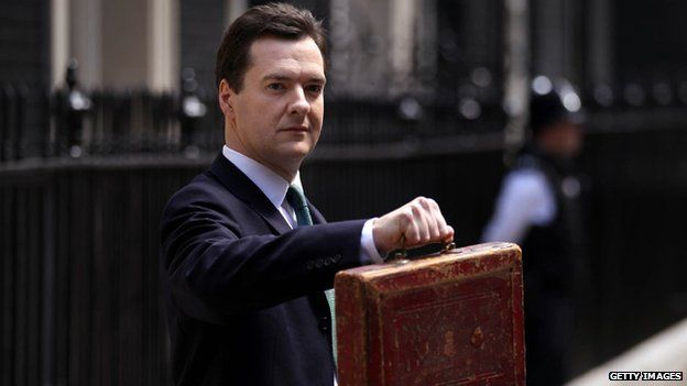 George Osborne stands outside Downing Street ahead of delivering his first budget in 2010