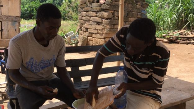 Two brodas convert cassava waste to electricity for Ghana