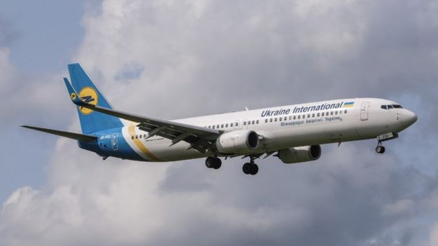 The Ukraine International Airlines plane