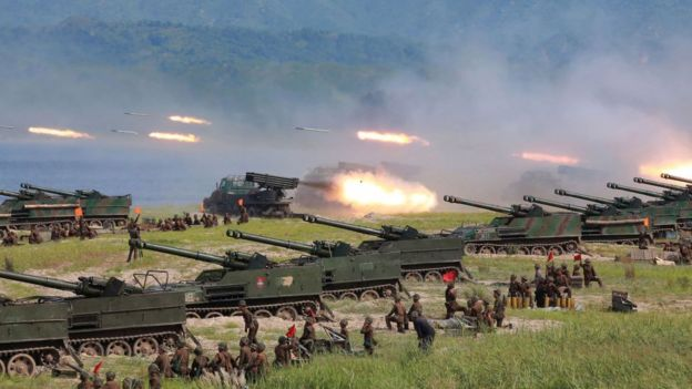 Exercícios militares norte-coreanos