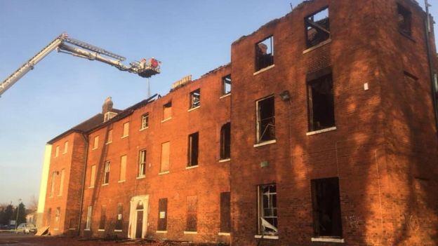 06f17420795 Fire damaged hospital building Image copyright Bedfordshire ...