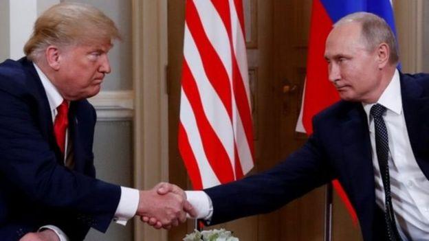 Prezida Trump wa Amerika na Putin w'Uburusiya