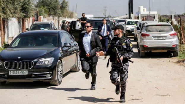 کاروان نخست وزیر فلسطینیها