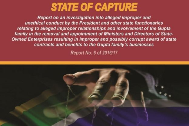 Front page of state of capture report