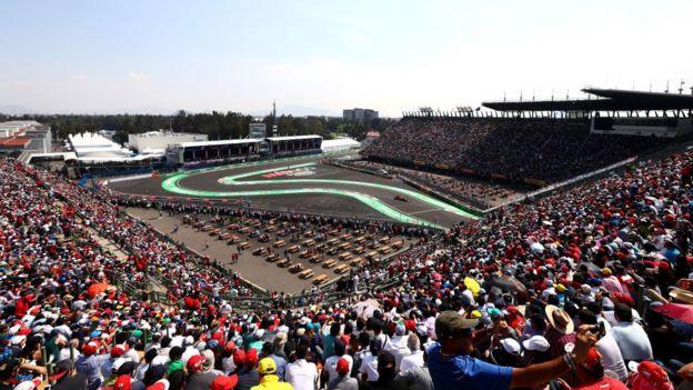 Una vista del Foro Sol durante la carrera de Fórmula 1