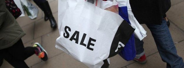 Man carrying shopping bag