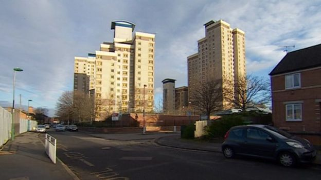 Pine View flats, Radford