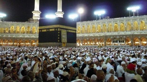Pilgrims perform the circumambulation of the Kaba in Mecca, Saudi Arabia (file photo)