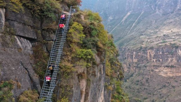Villagers Living On Cliff Shop Online In Liangshan