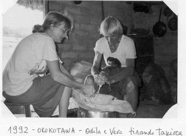 Freiras francesas em aldeia no Mato Grosso