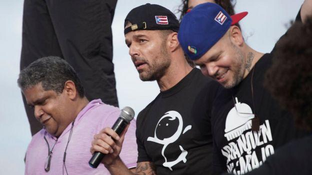 Ricky Martin y Residente.