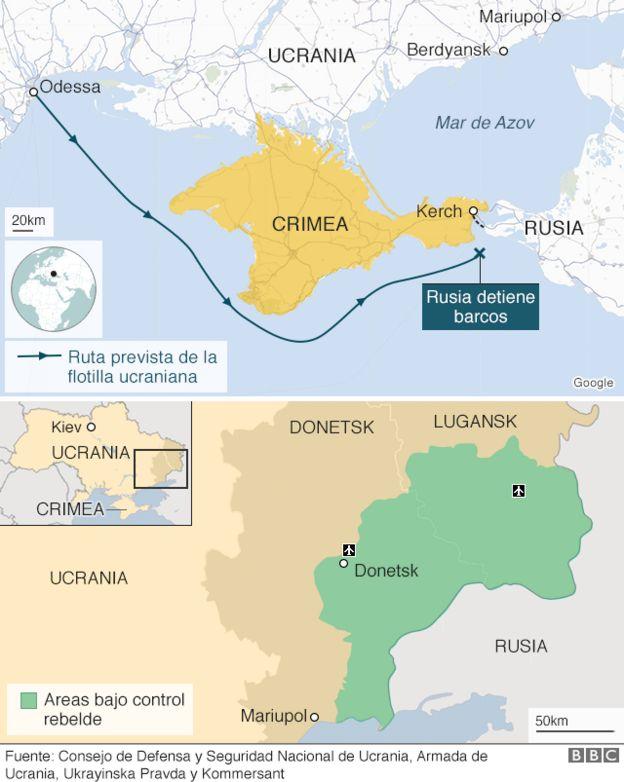 Aguas Territoriales Españolas Mapa.Conflicto Entre Rusia Y Ucrania Quien Controla Las Aguas