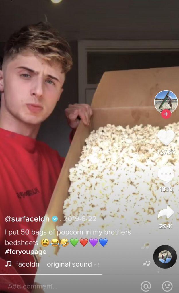 Popcorn prank