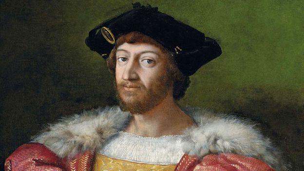 Lorenzo di Piero de Medici pintado por Rafael.
