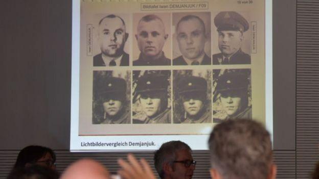 Homens ligados ao partido nazista em fotos tiradas em Sobibor
