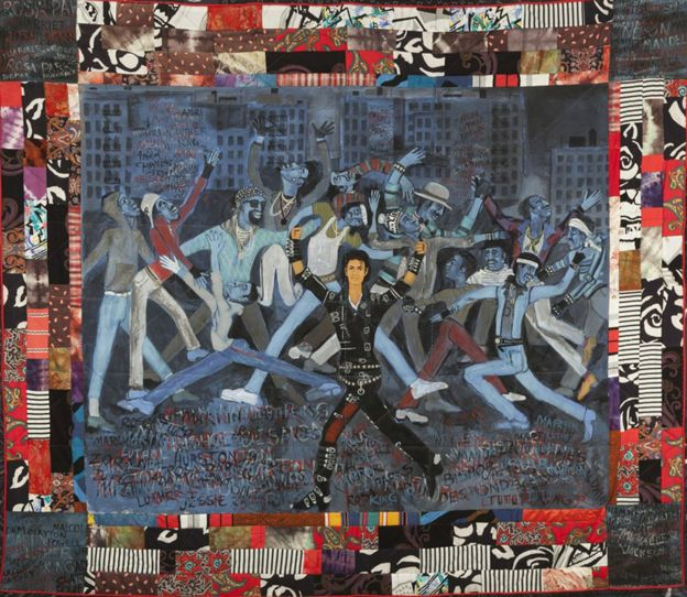 On the wall - Art inspired by Michael Jackson displayed in London