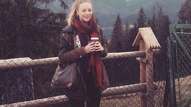 Klara cuando estaba embarazada de 8 meses.