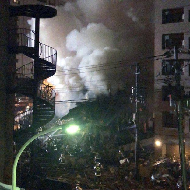 Sitio de explosión en Sapporo