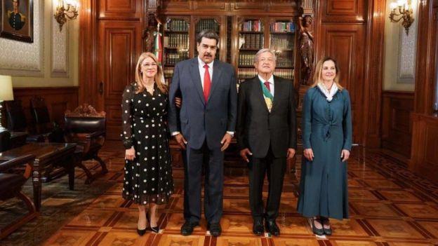 Nicolás Maduro divulgó en su cuenta de Twitter la imagen de su encuentro con AMLO.