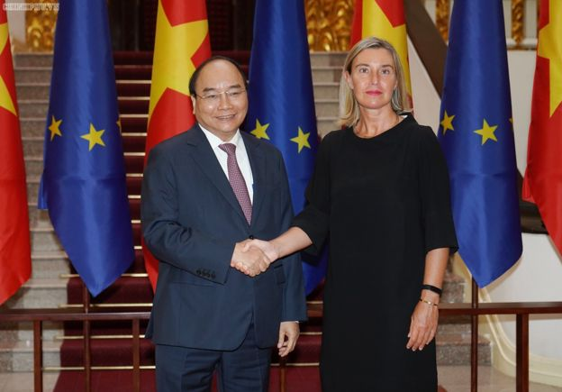 Trong chuyến thăm của Phó Chủ tịch Ủy ban châu Âu Federica Mogherini đến VN, hai bên muốn sớm ký Hiệp định hợp tác trong lĩnh vực quốc phòng, an ninh (FPA).