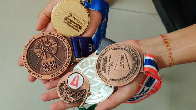 Manasi's medals