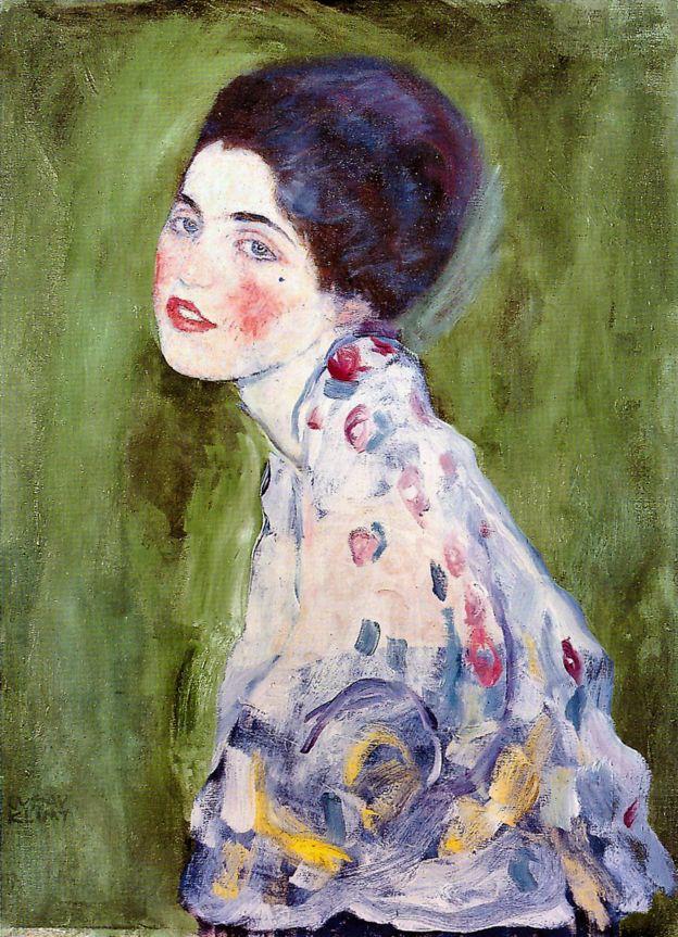 Detalhe do quadro Retrado de uma Dama