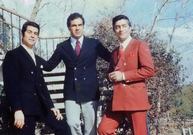 از راست به چپ: فردین، ناصر ملک مطیعی و بهروز وثوقی