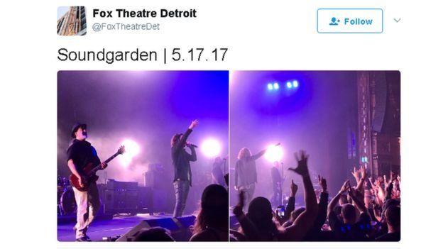 Captura de un tuit donde muestra el consierto de la noche anterior.