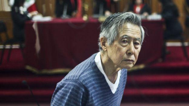 Alberto Fujimori en una audiencia en 2013